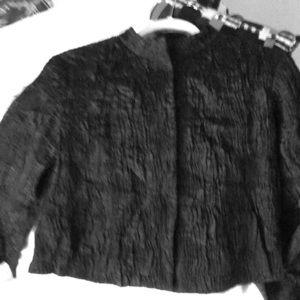 EILEEN FISHER Short Silk Black Jacket💕